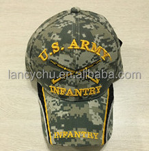 Camouflage bottom logo U.S.A RMY and two cross gun embroidery baseball cap
