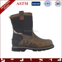 waterproof steel toe wellington boots with genuine leather
