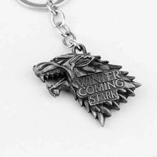 Fashion Anime Game of Thrones Keychain Men Trinket Portachiavi Car Keyring KeyChain