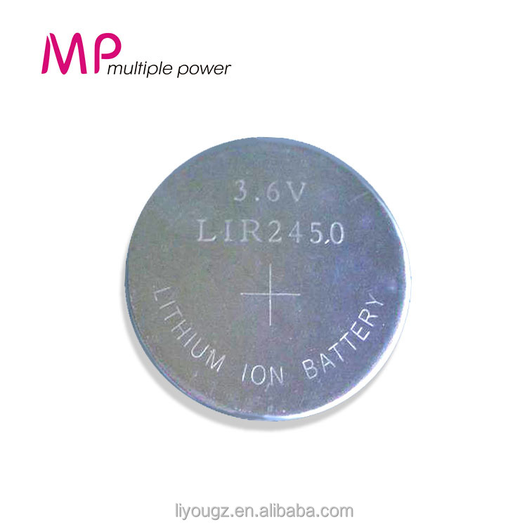 Newest !!! 2016 Rechargeable Batteries Li-ion Battery Hight Quality Button Battery 3.6v LIR 2450