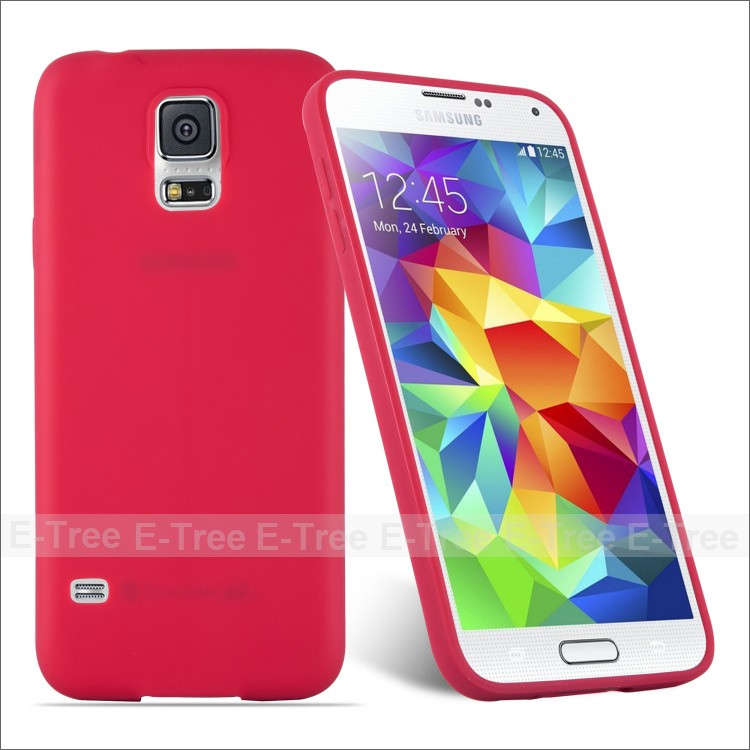 Candy soft TPU phone back cover case for Samsung Galaxy S5