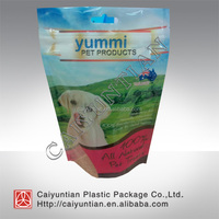 stand up shape zipper Bag with bottom for dog food