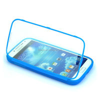 High Quality Super Thin Flip TPU Phone Case with Full Cover for Samsung mini S4