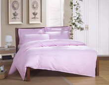 wholesale hotel bedding sets pink stripe pure cotton fabric