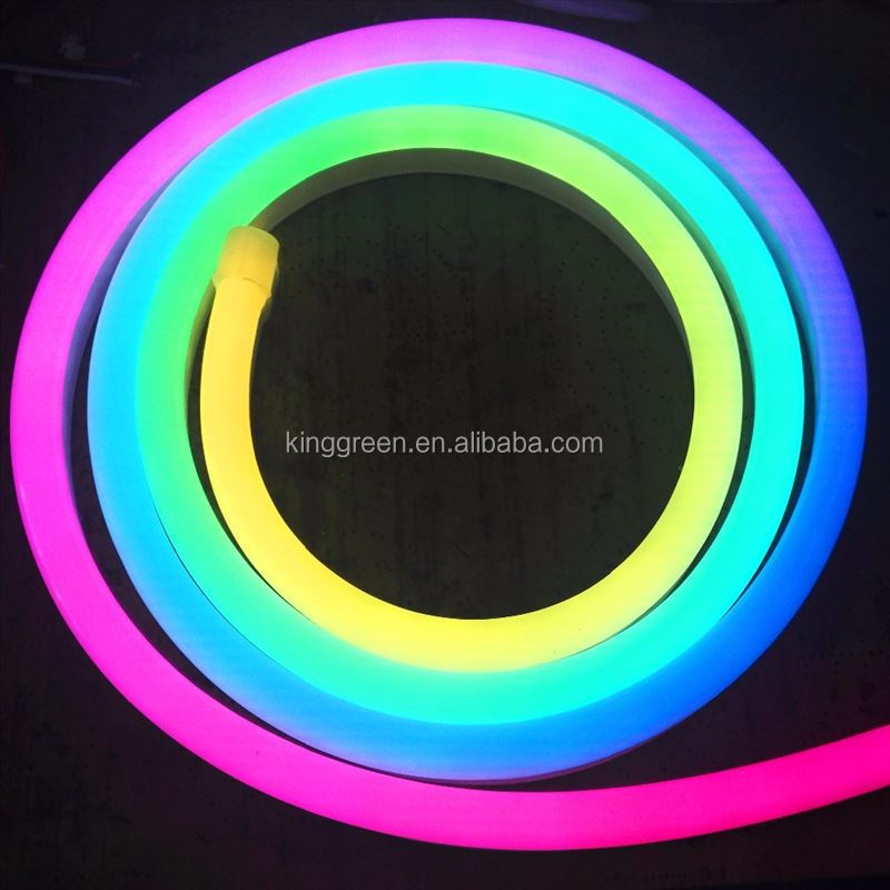 Addressable Individual <strong>RGB</strong> APA104 LED digital neon flex pixel light DC5V input 60LED/m,60Pixel/m dream color led neon pixel lamp