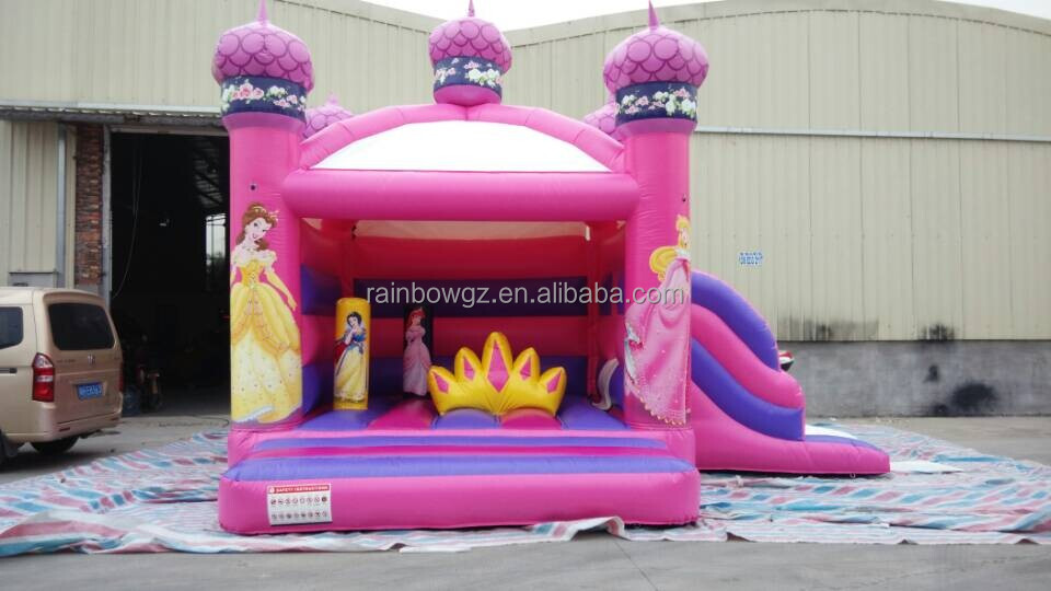 Hot Sale Rainbow inflatable Bounce House with Princess for kids
