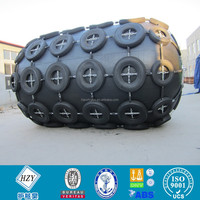 Ship pneumatic natural rubber fender with tyre and chain
