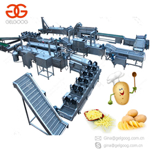 Whole Line Potato Sticks Equipment Potato Chips Making Machine Frozen French Fries Production