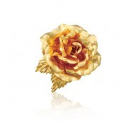 24K Gold Plated Rose Brooch