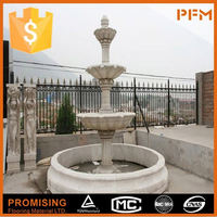 latest natural best price beautiful hand carved white marble garden fountain with lady statues