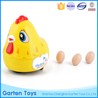 2016 Best price funny musical battery operated plastic toy chicken lays eggs