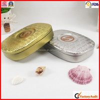 dongguan oval shape tea tin storage box