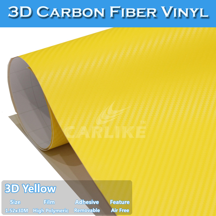 CARLIKE 3D Carbon Fiber Vinyl Film Heating Film Car Interior Stickers