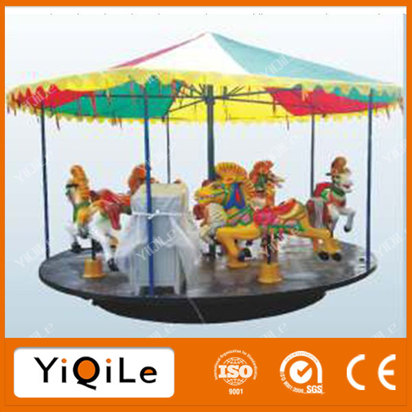 Various color electronic carousel toys for amusement park
