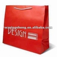 lowest price high quality fashion Packaging paper gift bag OEM strawberry gift paper bag