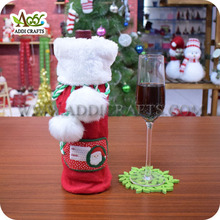 Elegant Christmas Party Decorations Christmas Wine Bottle Bag Cover