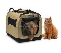 Foldable pet carrier with strong steel frame