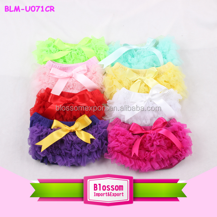 Newborn Summer Baby Girl Diaper Cover Bloomers Suits Soft Chiffon Side/ Posh Sequin Side Baby Bloomers