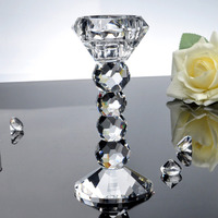 wedding crystal candle holder Candlestick Tea light Stand MH-1710