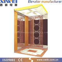 Passenger elevator hairline finished stainless steel first door and coating steel plate other doors passenger lift