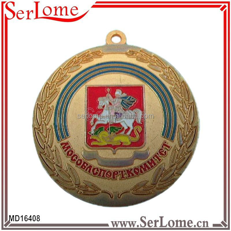 Advertising gift printed logo best souvenir gifts gold medal oil