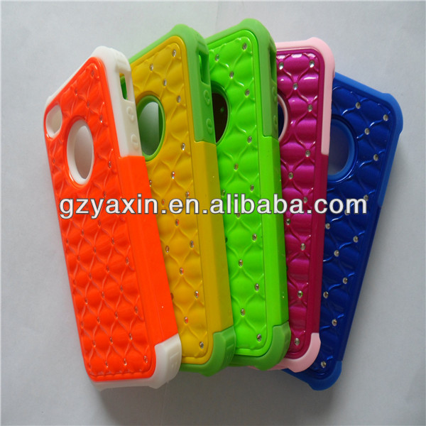 Custom Name Colorful Jeweled Cell Phone Cover For Iphone 4/5
