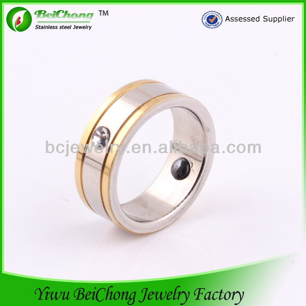 stainless steel jewelry made in china gents finger ring magnetic health ring