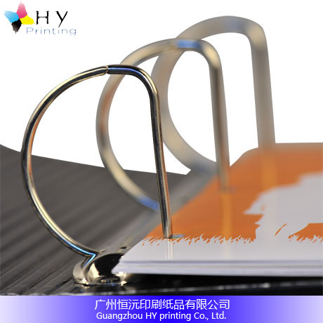 Good Custom roundback 3 D rings A4 paper ring binder folder printing with dividers