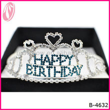 New Fashion Round Pageant Bead Tiaras And Crowns Cheap For Birthday