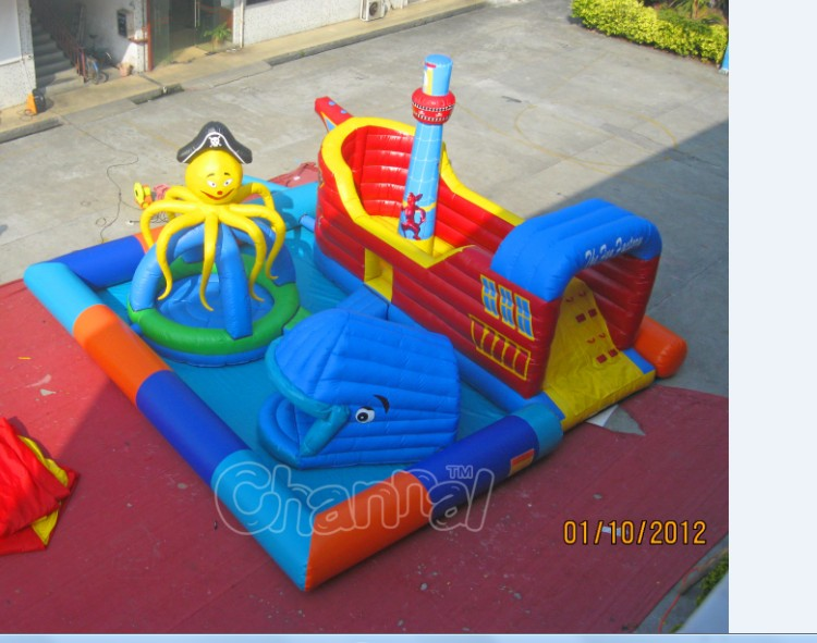 Inflatable Pirate Shipobstacle course amusement park Inflatable playground for totter