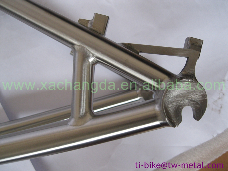 2016 Newest tandem mtb bicycle frame, post mouth brake and breeze dropouts tandem frame, tandem frame with hand brush finished
