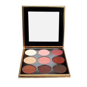 Cheap matte 9 colors eyeshadow palette your own brand name makeup eyeshadow palette