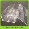 high glass customized pelxi packaging box acrylic candy box divideders with cover