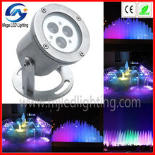 IP68 DC12v 3w RGB underwater led pool light