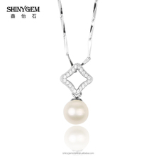 2017 New Fashion Women Elegant Pearl Pendant Necklace Hot 925 Sterling Silver Jewelry Freshwater Pearl Necklace Gift Party