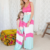 2017 newest fashion monther and child summer long dresses mother daughter dresses