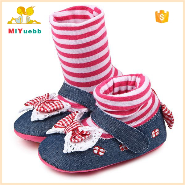 New Cotton Sole Soft Newborn Baby Sock Shoes