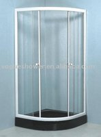 Tempered Glass Indoor Bathroom Portable Simple Shower Room For Home