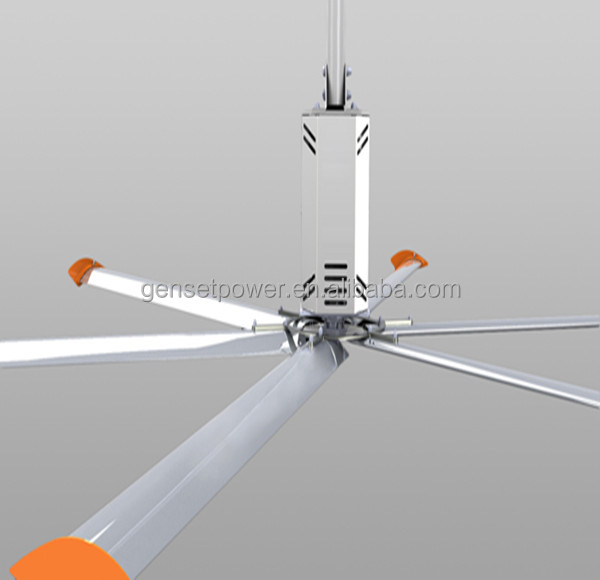 Guangzhou HVLS Low Speed poultry farm Big Ceiling Fan Manufacturer