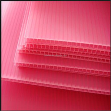 pink plastic fluted flexible pp corrugated plastic sheets with ISO SGS certificate