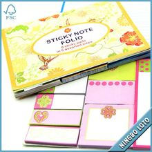 Total quality controlled sticky note in leather case