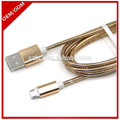 Hot-selling OEM Metal Mesh Micro USB Charging Data Cable for smart phone