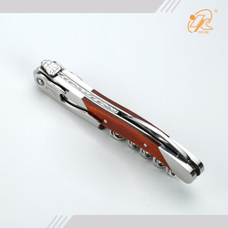 China manufacturer wood handle waiters corkscrew