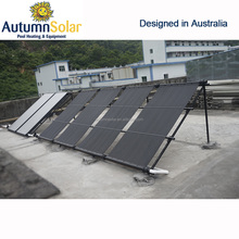 Solar energy collector for pool with vacuum tube heat pipe, heater solar swimming pool