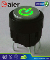 bule/white ligt tact switch; double action momentary tact switch products; green led tact switch with power logo