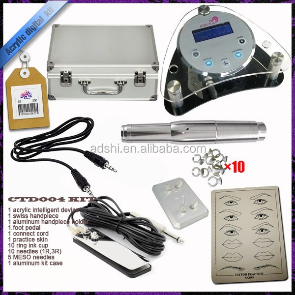 Permanent Makeup Pen Professional Makeup Machine kit LCD Power Tattoo Kits