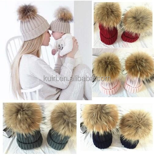 2017 Fashion mom and baby winter crochet hat knitted hat cap hats for women men girls baby cotton turban