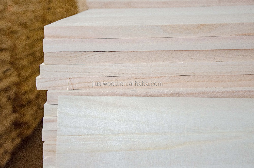 Paulownia lumber for skateboard production
