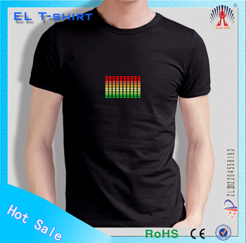EL light t-shirt illuminated el t-shirt panel animation el t-shirt panel