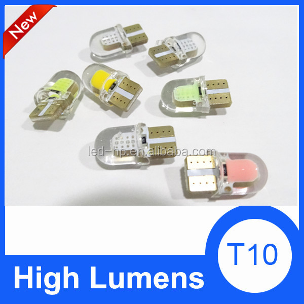 LED 194 W5W T10 Silicone shell COB LED Lights Car Side Wedge Light